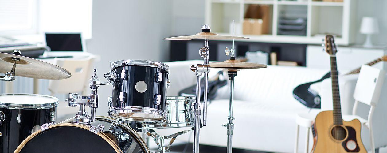 Ob Rock, Jazz oder Pop - die Farbe der Zimmerwände beeinflusst maßgeblich die Kreativität beim Musizieren.