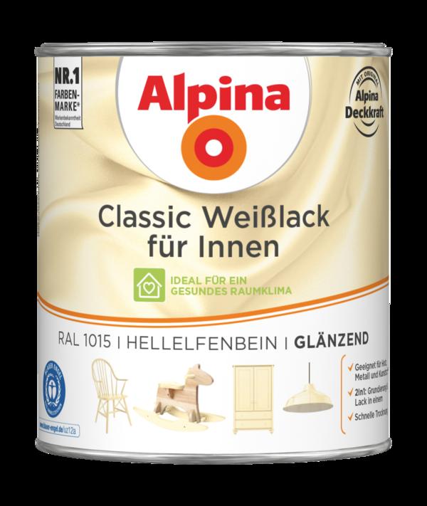 Alpina Classic Weißlack für Innen Hellelfenbein - Alpina Farben