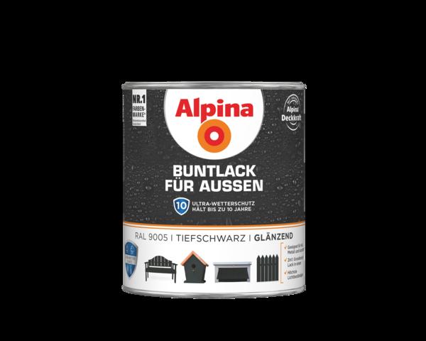 Alpina Buntlack für Außen Tiefschwarz - Alpina Farben