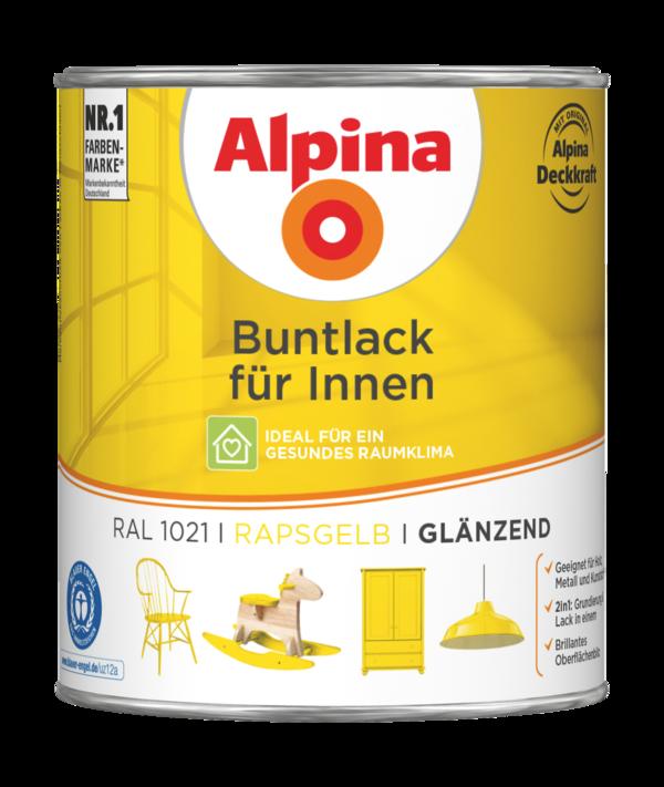 Alpina Buntlack für Innen Rapsgelb - Alpina Farben