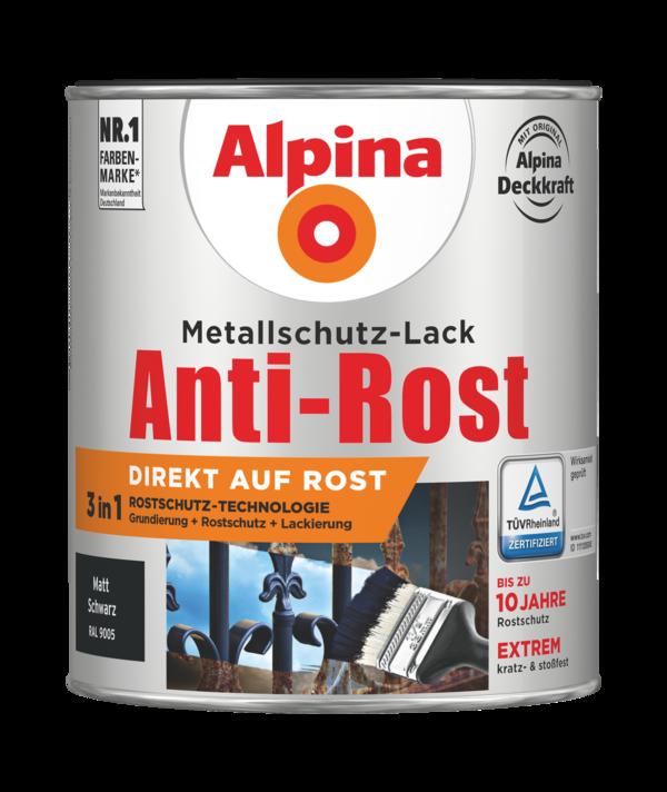 Alpina Metallschutz-Lack Anti-Rost Schwarz matt - Alpina Farben