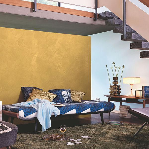 Kreative Wandgestaltung mit Effektfarben