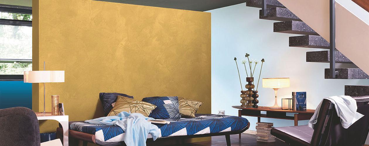 Kreative Wandgestaltung mit Effektfarben: Alpina Farbe ...