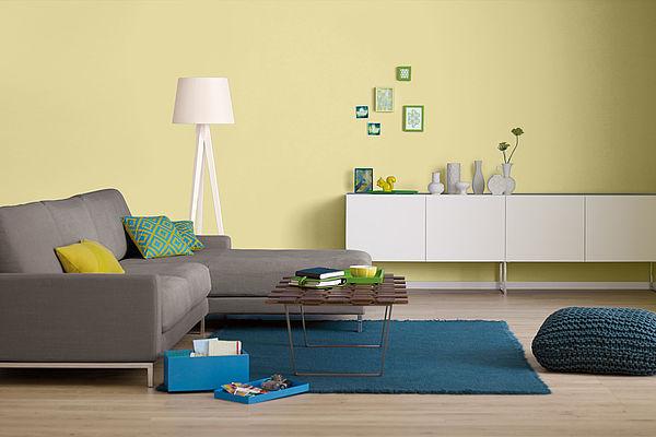 Alpina Farbrezepte Innenfarbe Lichtes Gelb - Alpina Farben