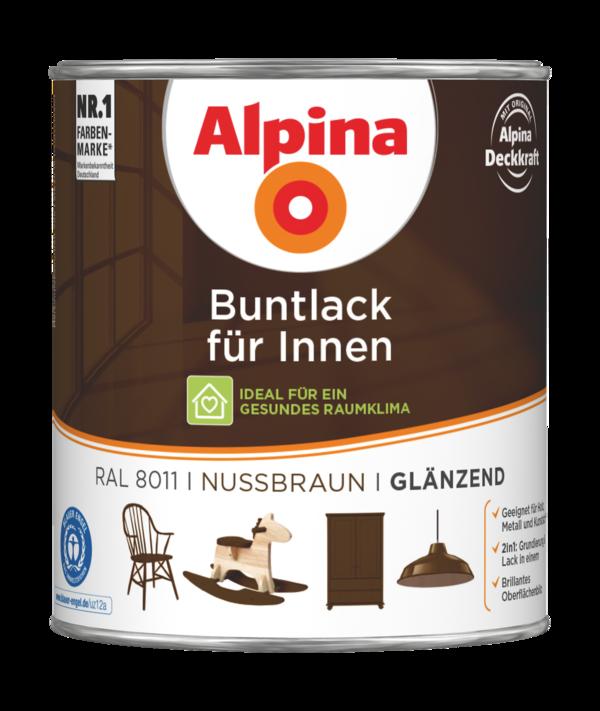 Alpina Buntlack für Innen Nussbraun - Alpina Farben