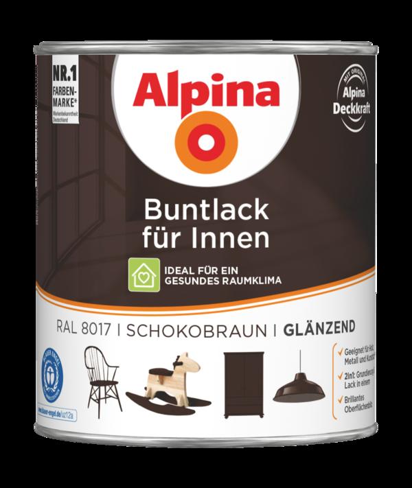 Alpina Buntlack für Innen Schokobraun - Alpina Farben