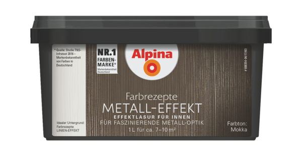 Alpina Farbrezepte METALL-EFFEKT Mokka - Alpina Farben