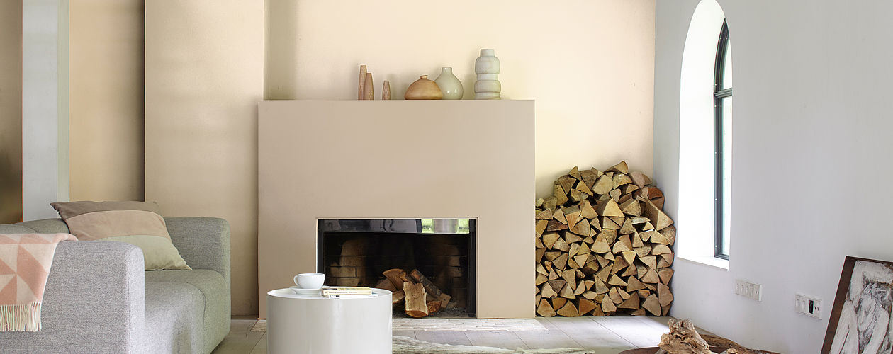 Ideen für die Wandgestaltung im Wohnzimmer: Alpina Farbe ...
