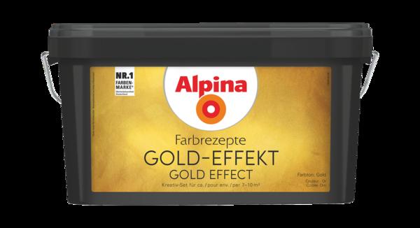 Alpina Farbrezepte GOLD-EFFEKT Gold - Alpina Farben