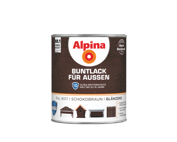 Alpina Buntlack für Außen Schokobraun - Alpina Farben