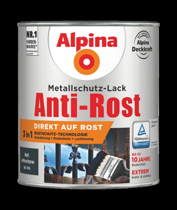 Alpina Metallschutz-Lack Anti-Rost Anthrazitgrau matt - Alpina Farben