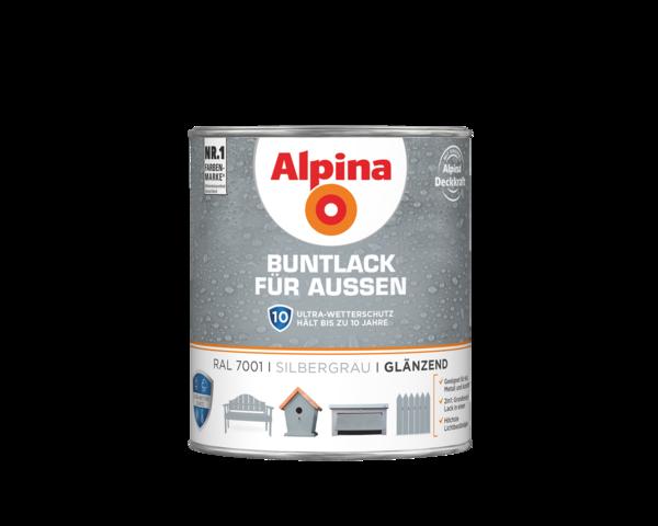 Alpina Buntlack für Außen Silbergrau - Alpina Farben