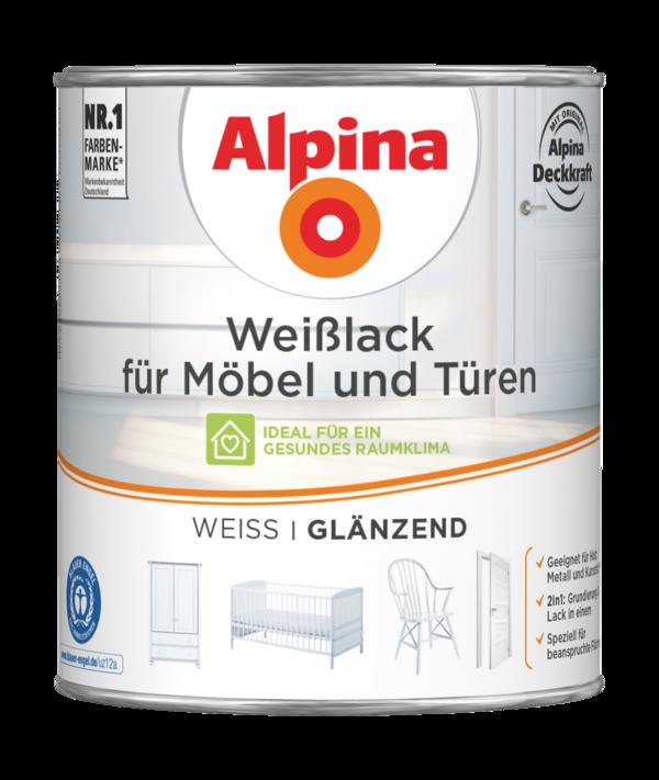 Alpina Weißlack für Möbel & Türen - Alpina Farben