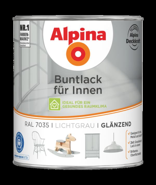 Alpina Buntlack für Innen Lichtgrau - Alpina Farben
