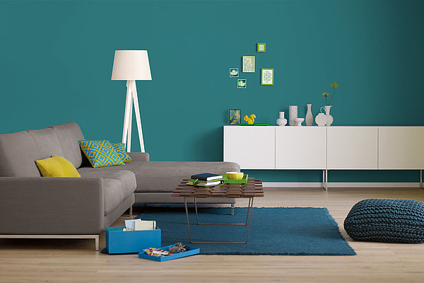 Alpina Farbrezepte Innenfarbe Petrol de Luxe - Alpina Farben