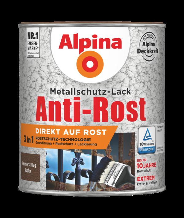 Alpina Metallschutz-Lack Anti-Rost Hammerschlag Kupfer - Alpina Farben