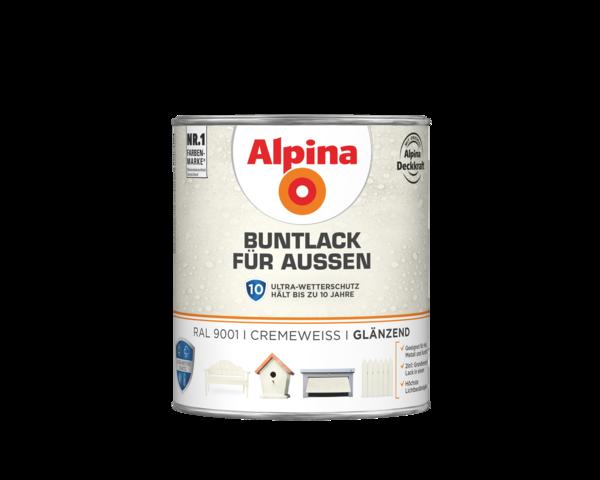 Alpina Buntlack für Außen Cremeweiß - Alpina Farben