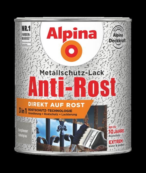 Alpina Metallschutz-Lack Anti-Rost Eisenglimmer Dunkelgrau - Alpina Farben