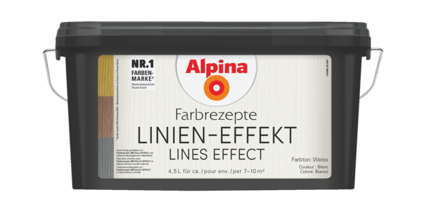 Alpina Farbrezepte LINIEN-EFFEKT - Alpina Farben