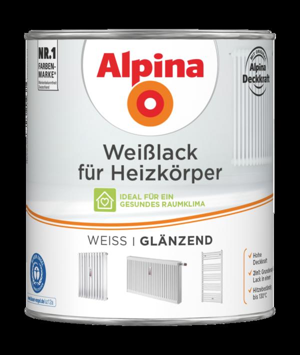 Alpina Weißlack für Heizkörper - Alpina Farben