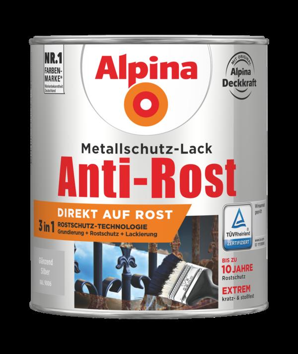 Alpina Metallschutz-Lack Anti-Rost Silber Glänzend - Alpina Farben