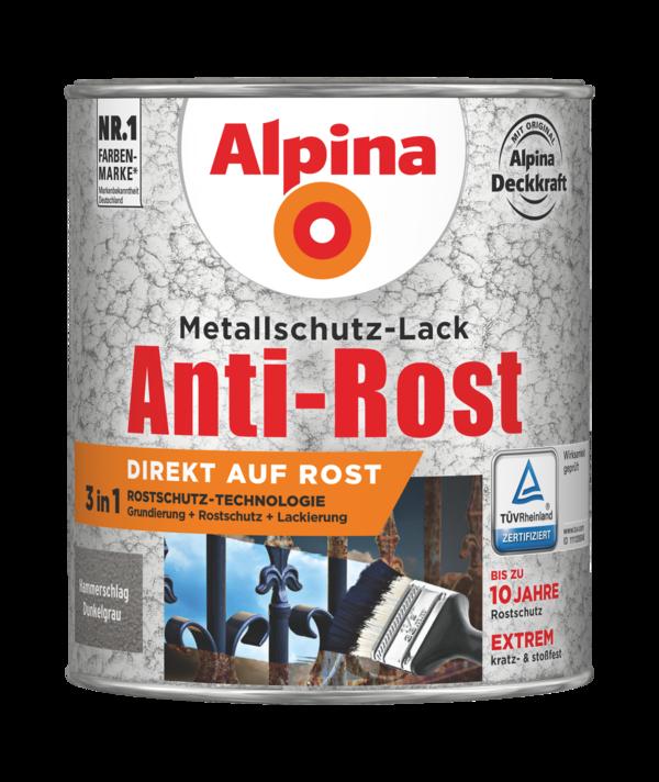 Alpina Metallschutz-Lack Anti-Rost Hammerschlag Dunkelgrau - Alpina Farben