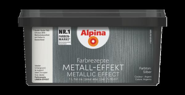 Alpina Farbrezepte METALL-EFFEKT Silber - Alpina Farben