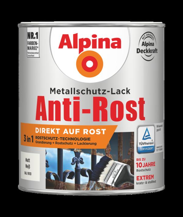 Alpina Metallschutz-Lack Anti-Rost Weiss matt - Alpina Farben