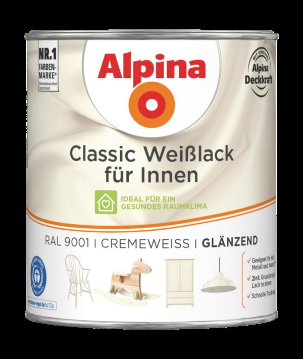 Alpina Classic Weißlack für Innen Cremeweiß - Alpina Farben