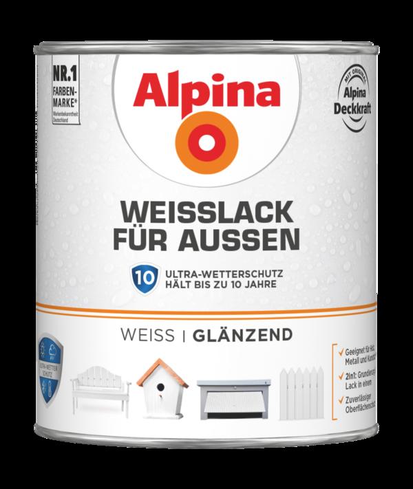 Alpina Weißlack für Außen - Alpina Farben